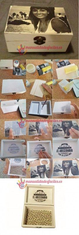 Como decorar una caja de madera ideas x cajitas cajas - Como decorar una caja de madera ...