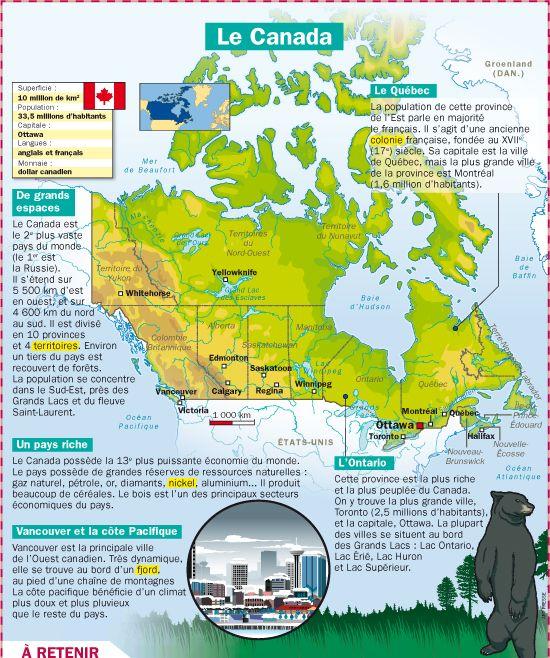 Fiche exposés : Le Canada                                                                                                                                                                                 Plus