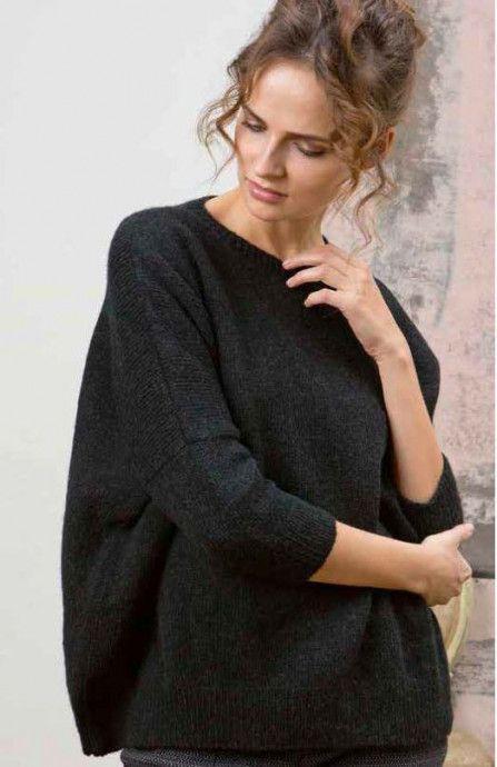 женский джемпер оверсайз спицами свитера вязание свитер джемпер