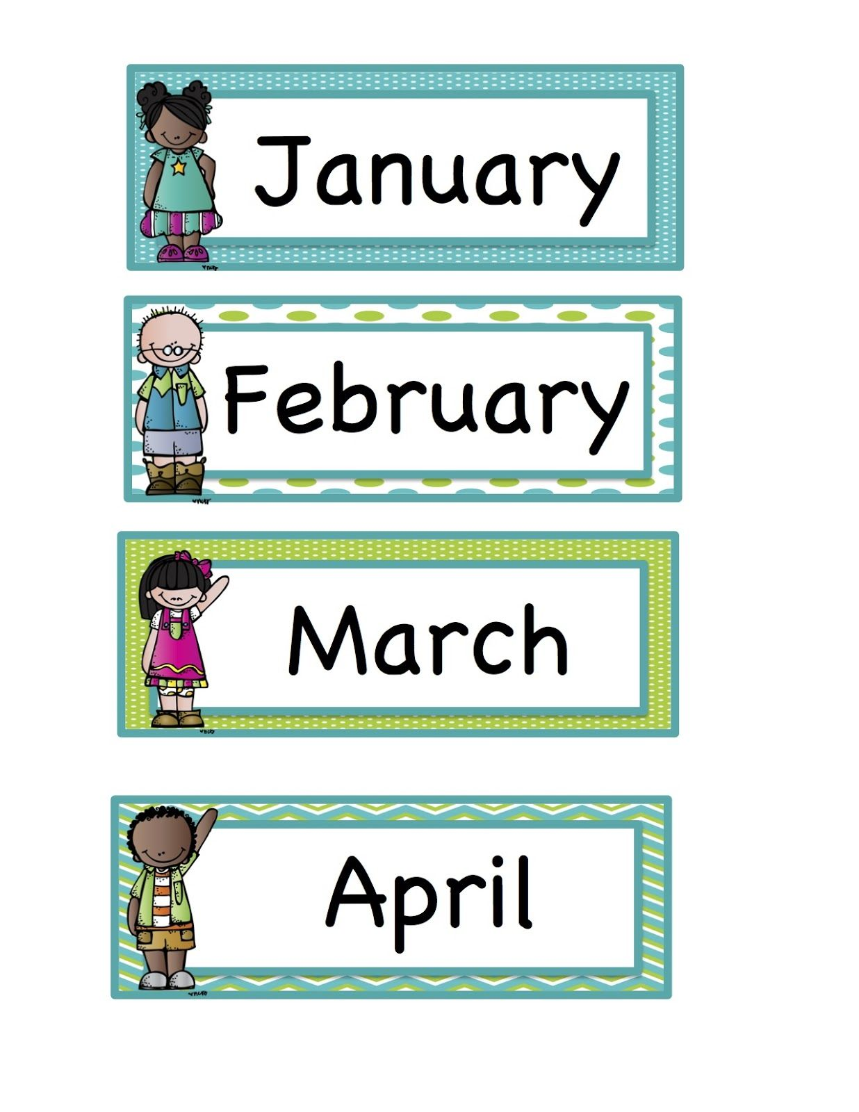 Preschool Printables: Calendar days and months | Preschool at Home ...