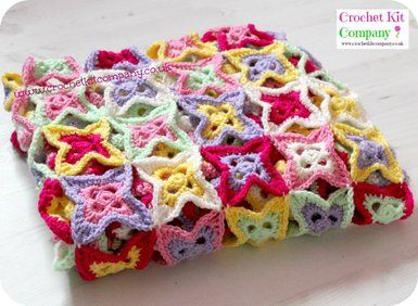 Crochet Kit. Spring Burst Blanket Crochet Kit. Make a Stunning Blanket Throw.
