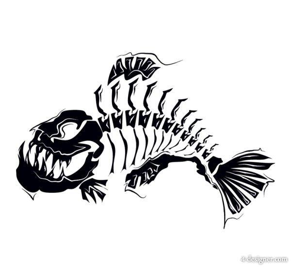 Download 4 Designer Com Files 20130905 Animal Pattern Silhouette 08 Vector Material 50023 Jpg Art Animal Silhouette Fish Drawings