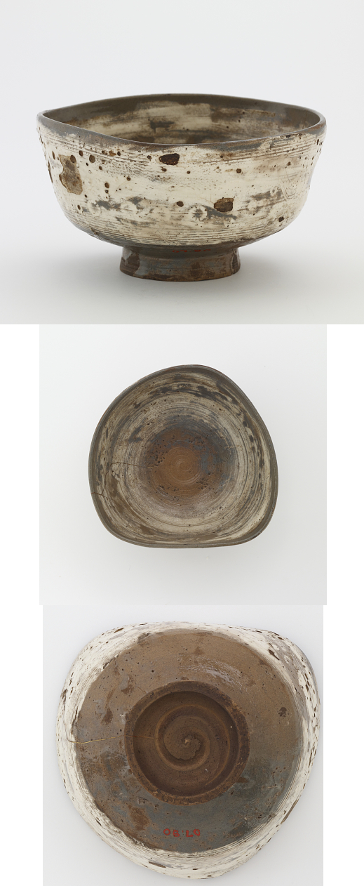 Joseon period, second half of 17th century Korea, Gyeongsangnam-do province, Hansu kiln Stoneware with white slip inlaid and brushed under clear glaze 8.7 x 15.8 cm Gift of Charles Lang Freer Freer Gallery of Art F1907.90