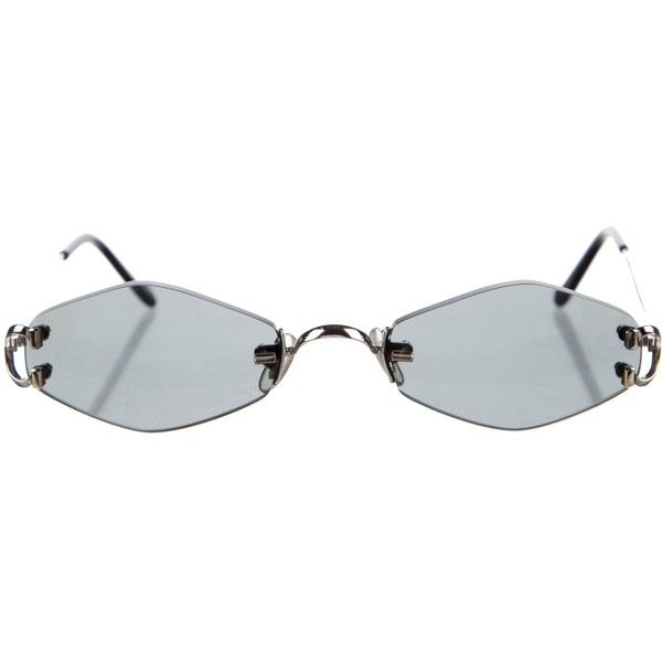 Pre Owned Cartier C Decor Sunglasses 1 295 Liked On Polyvore