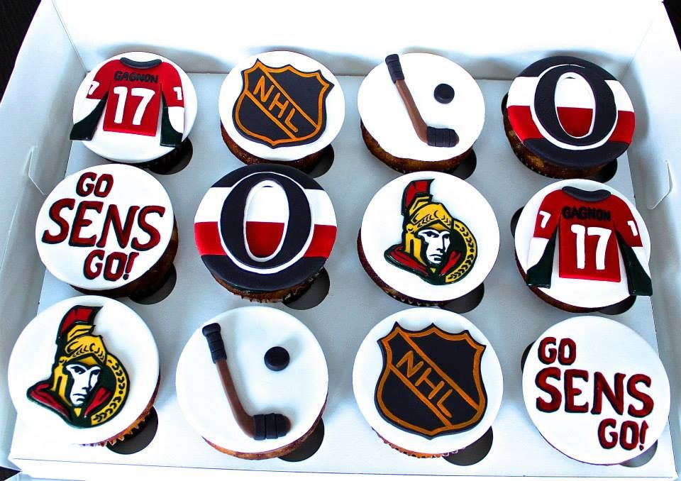 081ab24c625 Ottawa NHL senators Sens cupcakes cake | ❄ Hockey Teams ...