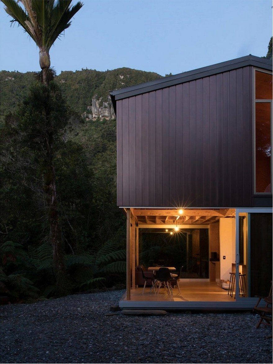 Small Coastal Cabin Located Near the Wild Coastline of the Tasman ...