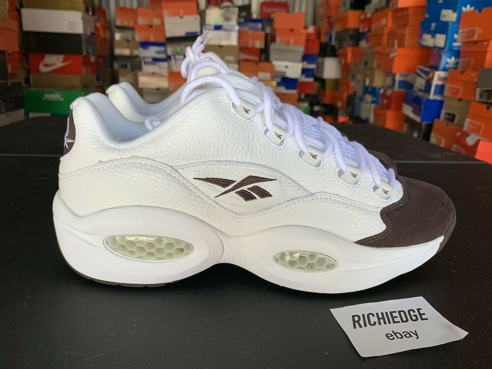 Ds Reebok Question Low White Chocolate Iverson Size 10 100 Authentic Fashion Clothing Shoes Accessories Mensshoes Athleticshoe Navy Leather Reebok Shoes