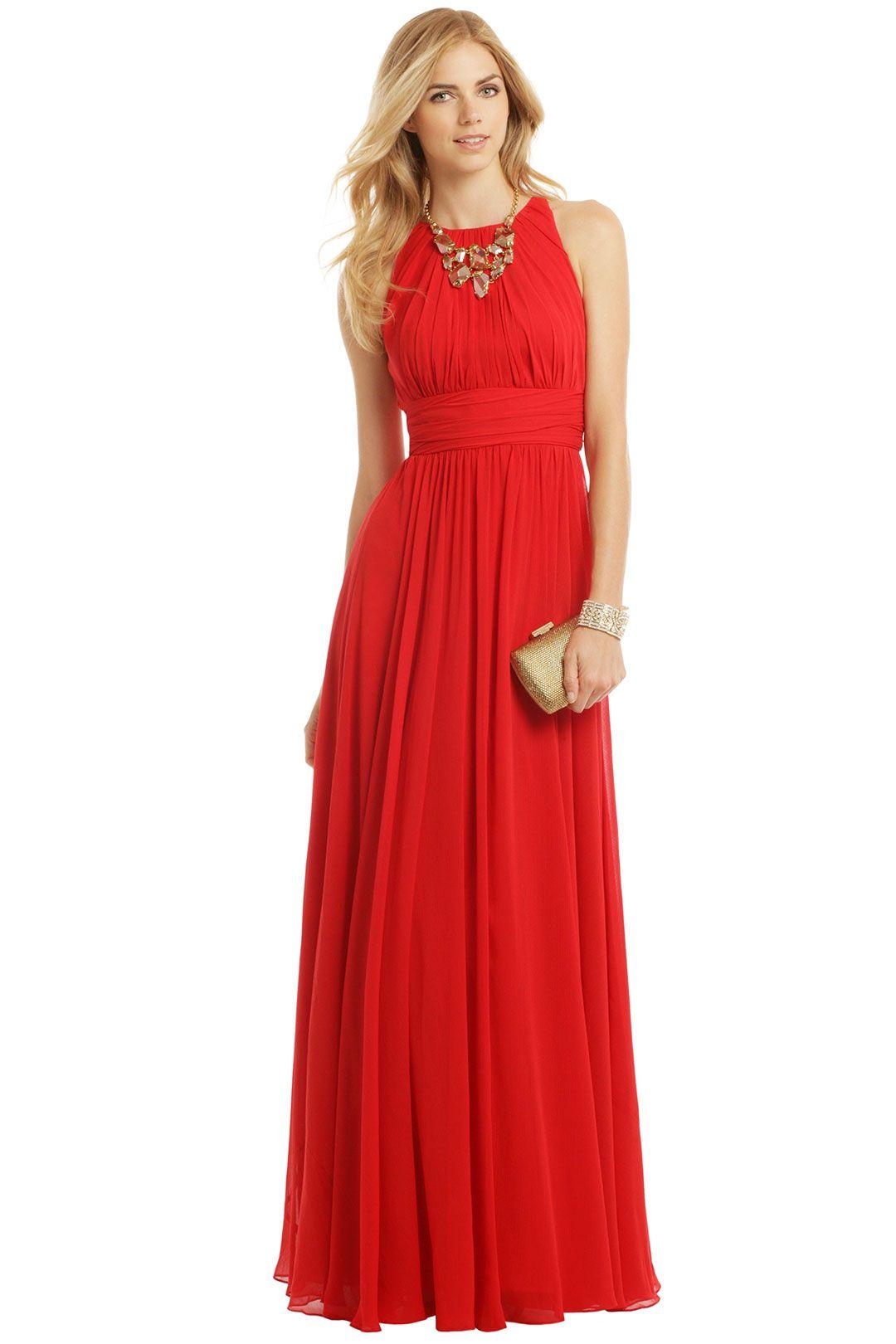 Badgley mischka ruby red gala gown utopya con dress ideas