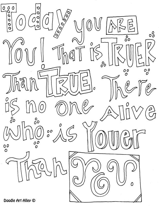 - Motivational Quote Coloring Pages - Doodle Art Alley Quote Coloring Pages,  Dr Seuss Coloring Pages, Coloring Pages