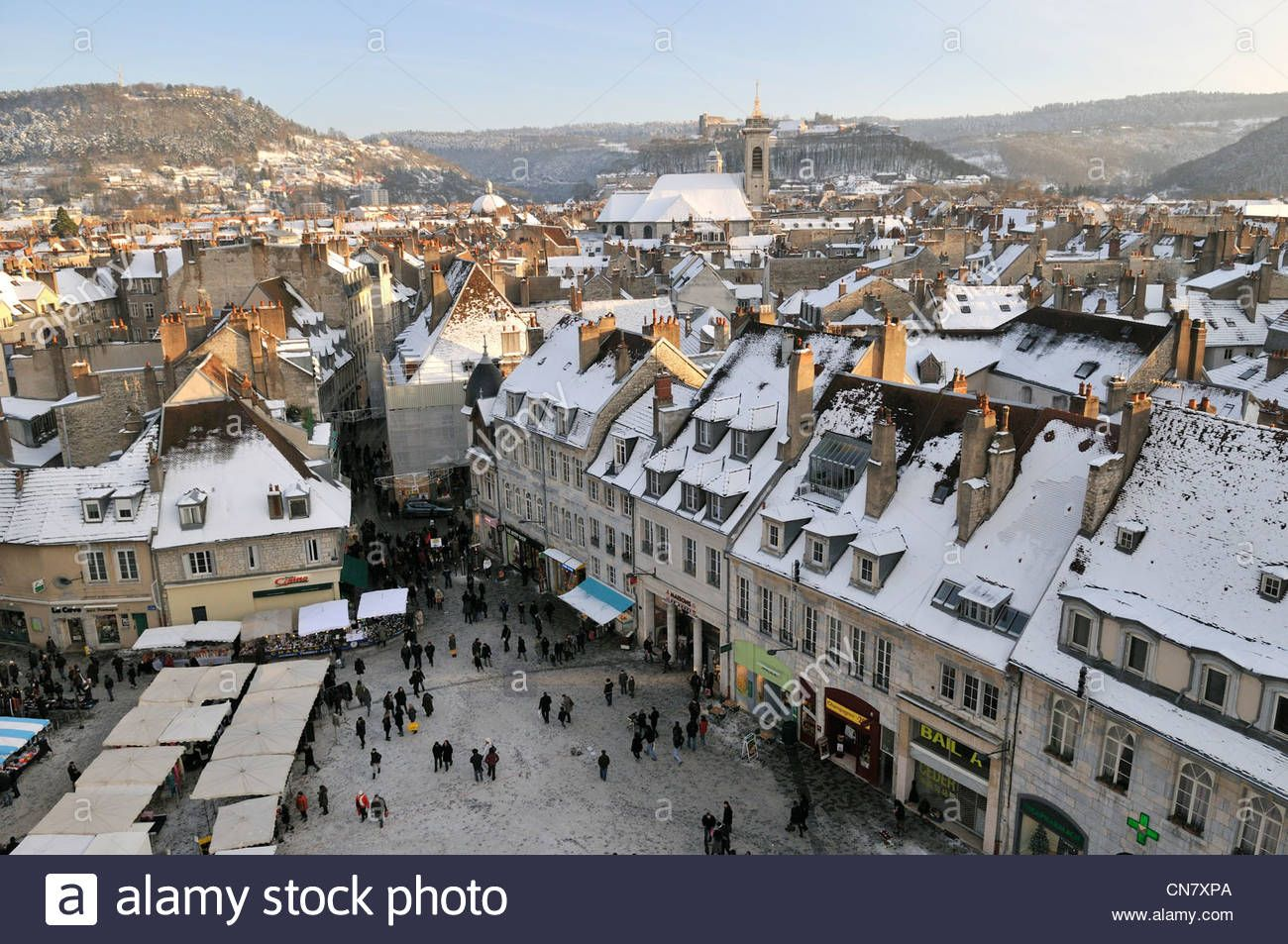 France, Doubs, Besancon, Revolution Square, Christmas Market, City Stock Photo, Royalty Free Image: 47503186 - Alamy