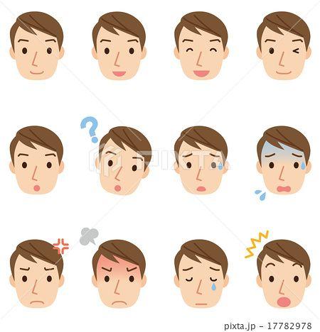 男性の表情 顔アイコン