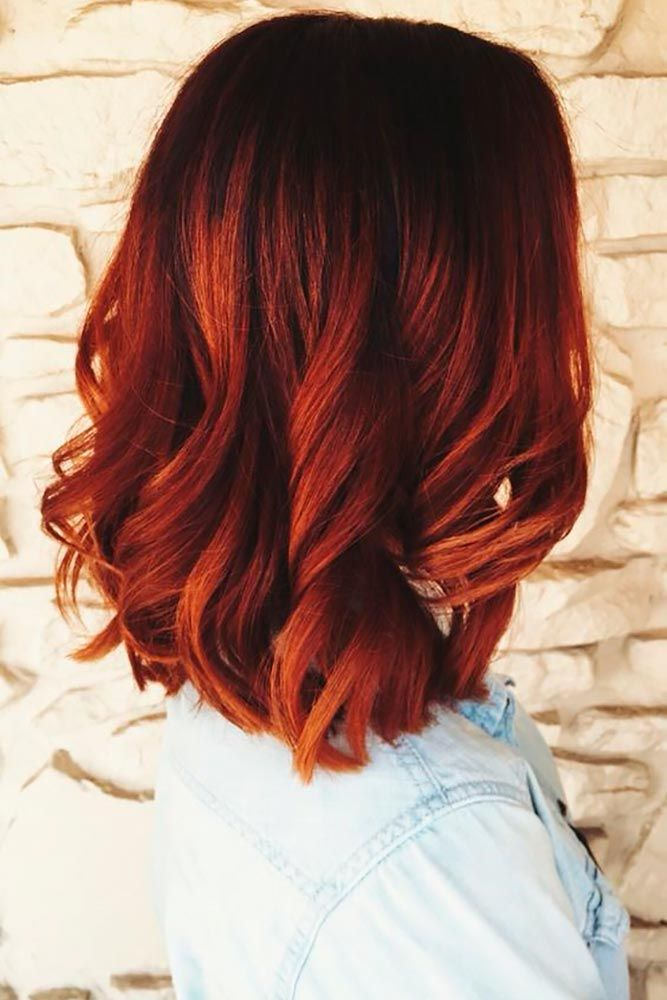 21 Beautiful Red Ombre Hair | Blue and, Ombre and Subtle ombre  21 Beautiful Re...