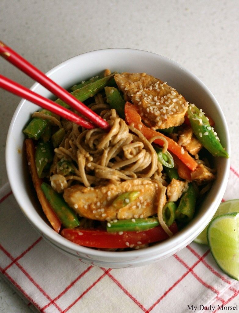 Soba Noodle Salad with Chicken and Snap Peas