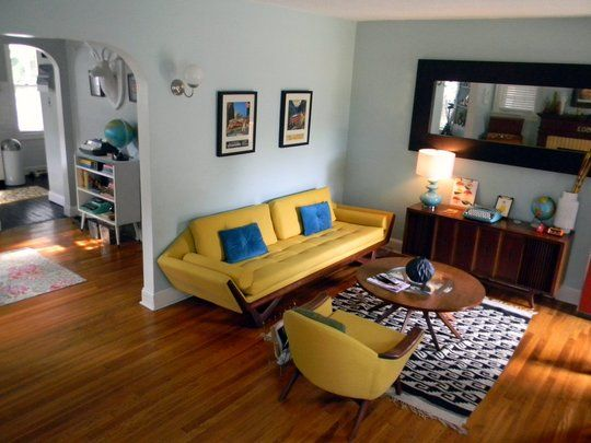 Yellow Mid Century Couch Mid Century Modern Living Room Mid