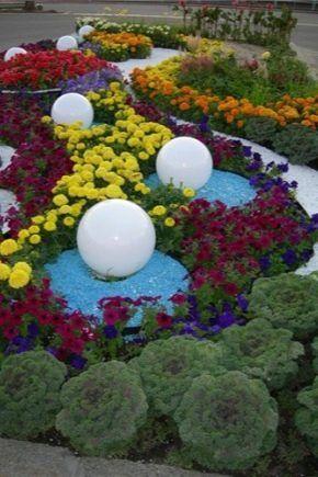 Цветники и клумбы своими руками на даче цветущие все лето ...