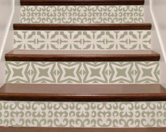 Stair stickers ornate vinyl tile decals for stair risers