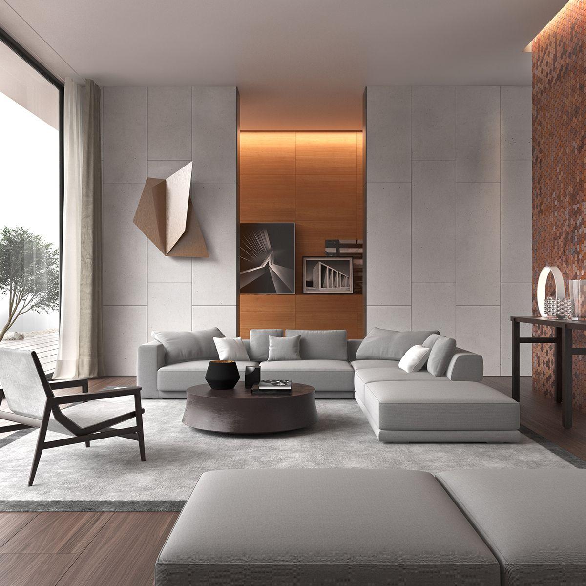 3D // Poliform Inspiration on Behance   Luxury living room ...
