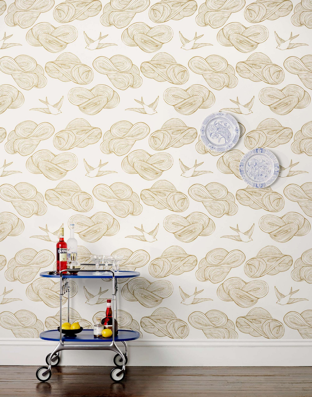 Daydream (Gold) Gold wallpaper, Gold rooms, Wall coverings