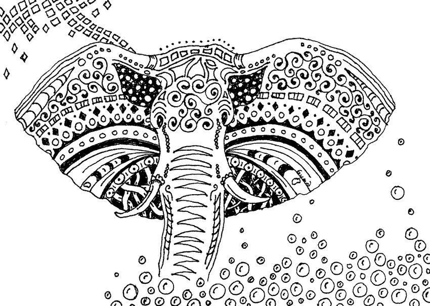 Zen Mandalas Coloring Book : Adult coloring pages page elephant pages
