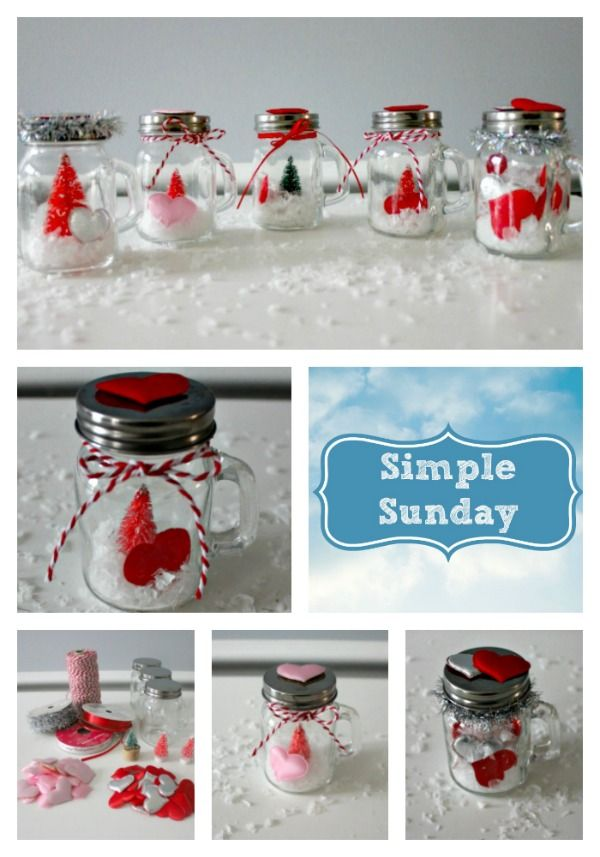 Simple Sunday Mason Jar Gifts Mason Jars Waterless Snow Globe