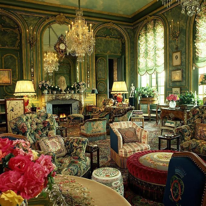 Gorgeous Victorian Drawing Room I Could Do Without The Green Flowery Chairs Though Fab