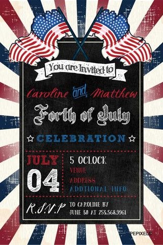 fourth of july invitation template