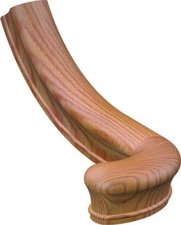 Best Sp 7040 Red Oak Left Hand Turnout Wood Handrail 400 x 300