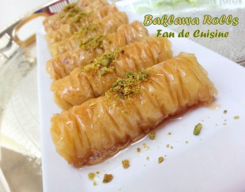 baklawa rolls , baklawa turc - fan de cuisine | koekjes