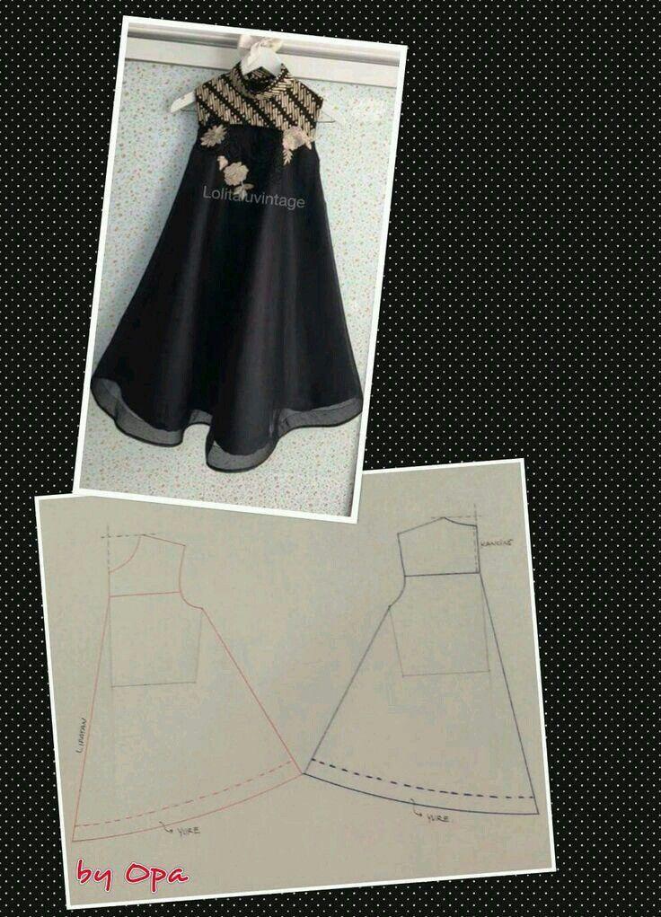 Pola Baju Gamis Anak Modern