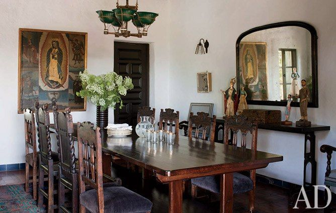 Sheryl Crow's Hollywood Hills Estate For Sale  Spanish Colonial Interesting Spanish Dining Room Table Decorating Design