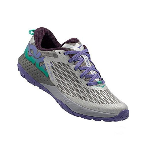 Hoka One One Women's Speed Instinct Trail Running Sneaker Shoe (10.5, Gray / Corsican Blue)