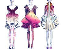 Fashion Illustration of 60's on Behance