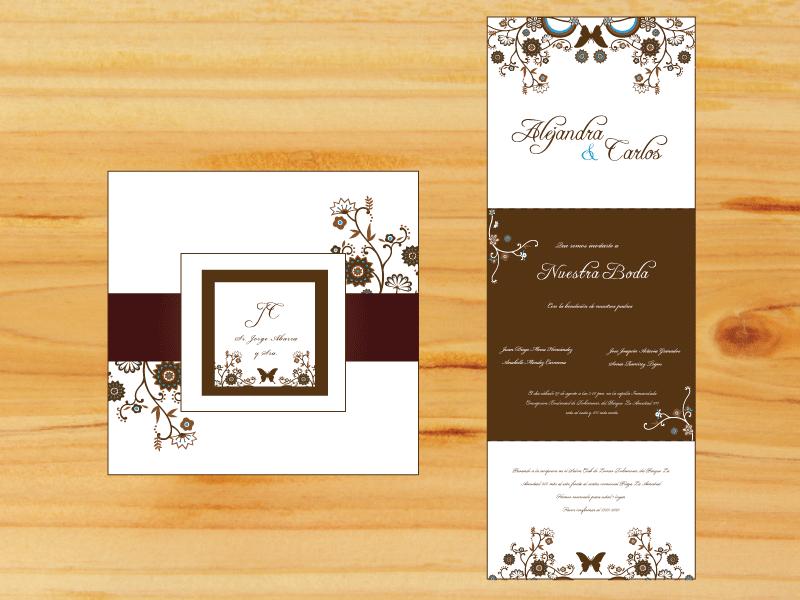 tarjeta de matrimonio para imprimir