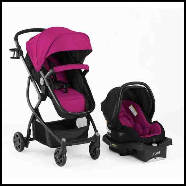 Purple Car Seat And Stroller Combo