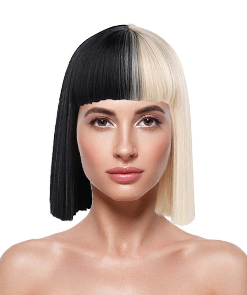 Sia Australian Singer Wig Pop Singer Black Blonde Small Wig