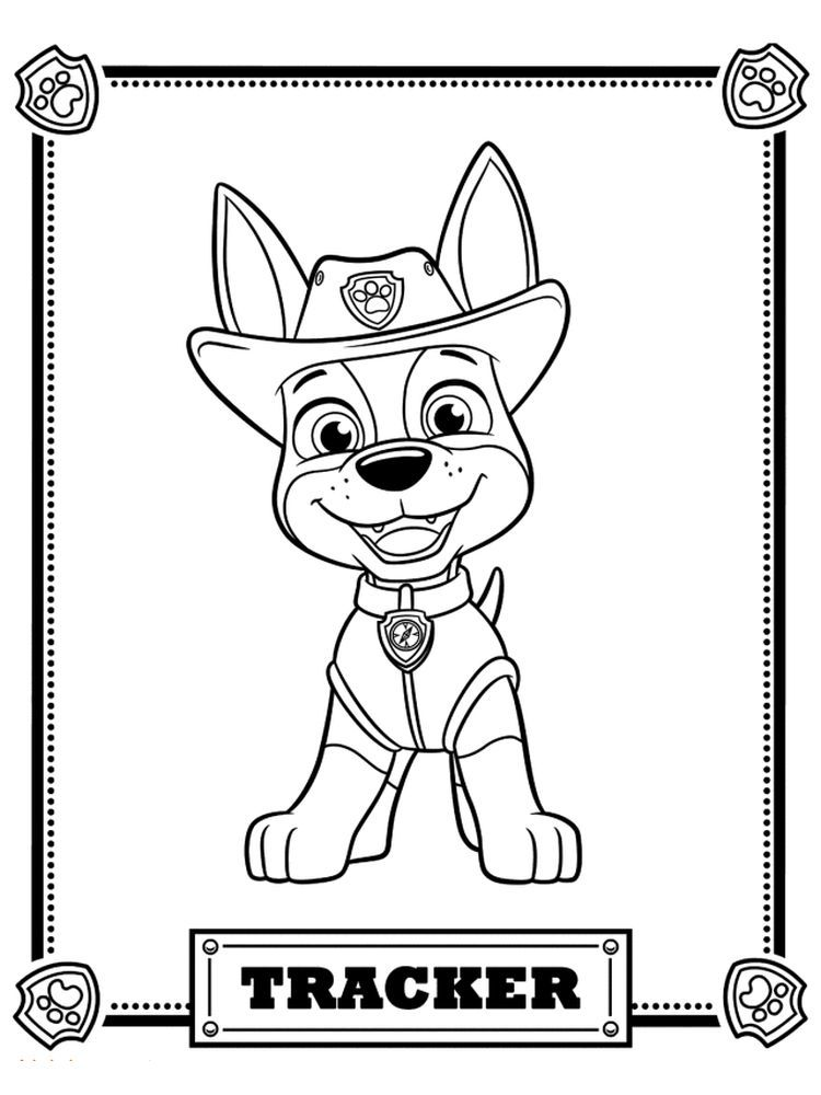 Paw Patrol Coloring Pages Chase In 2020 Paw Patrol Coloring