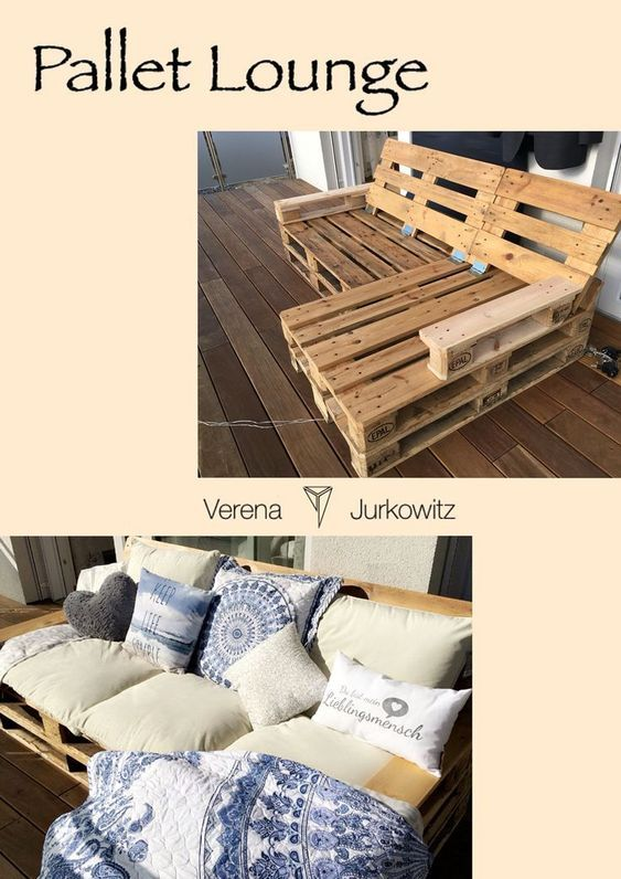 #DIY #palletsofa #Lounge for your hands indoors and outdoors. #Interior #gardenmob ..   #diypallet #indoorgarden