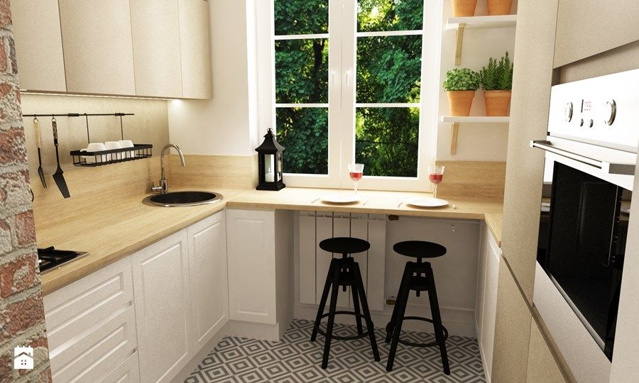 Aranżacje wnętrz  Kuchnia metamorfoza mieszkania 50 m2 w   -> Kuchnia Prowansalska Aranżacje