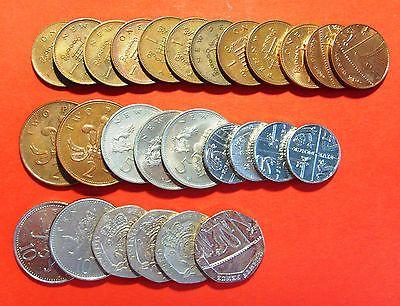 27 Münzen Gb Uk 1251020 Pence 151 Gbp Gebr Div