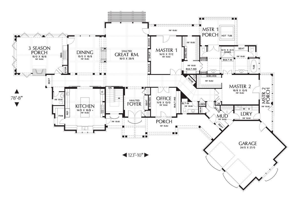 the hendrick ranch house plan is huge over 5200 sq ft with 5br