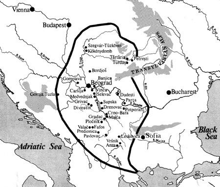 Vinca Culture The Map Of Tordos Turdas The Vinca Culture Is