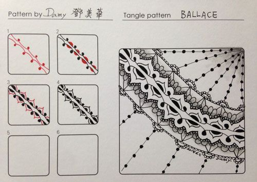 tangle patterns step by step - Google Search | Tangle | Zentangle