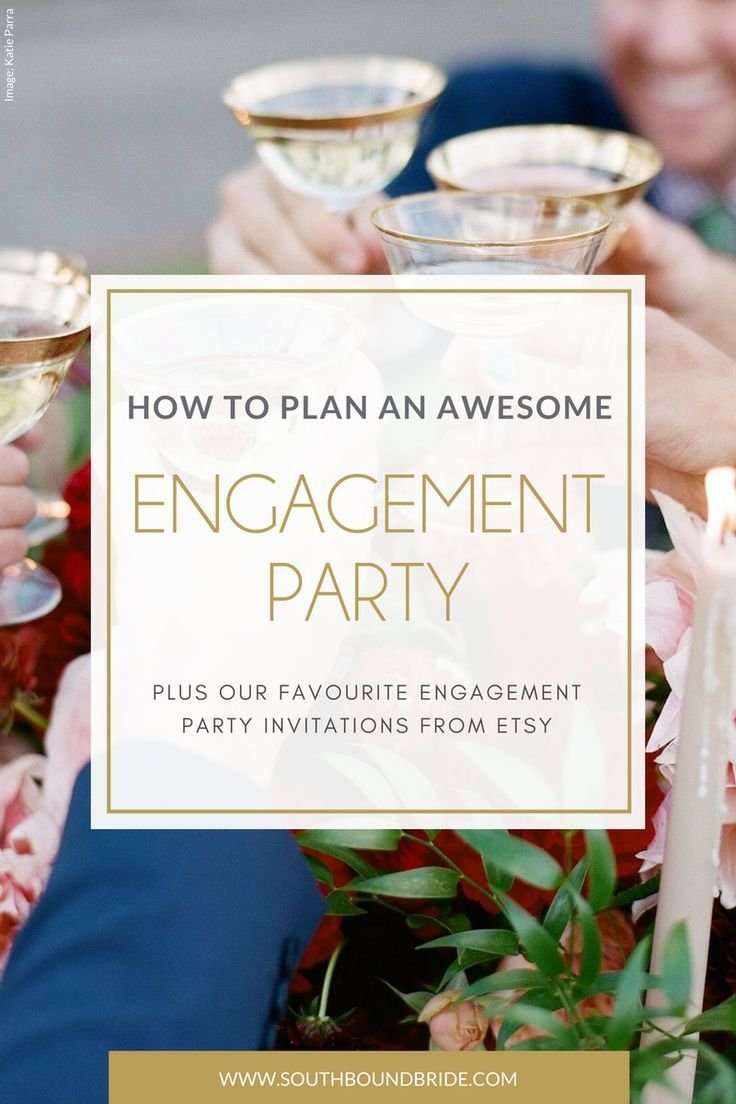 Planning an Engagement Party Plus Engagement Party Invitations from Etsy