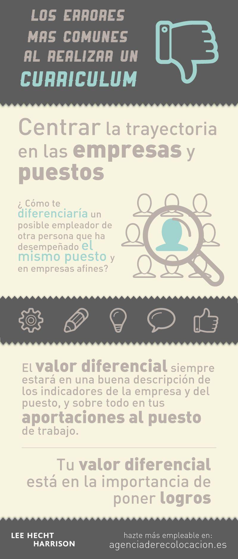 Cómo diferenciar tu #currículum del resto. #empleo | Merca | Pinterest