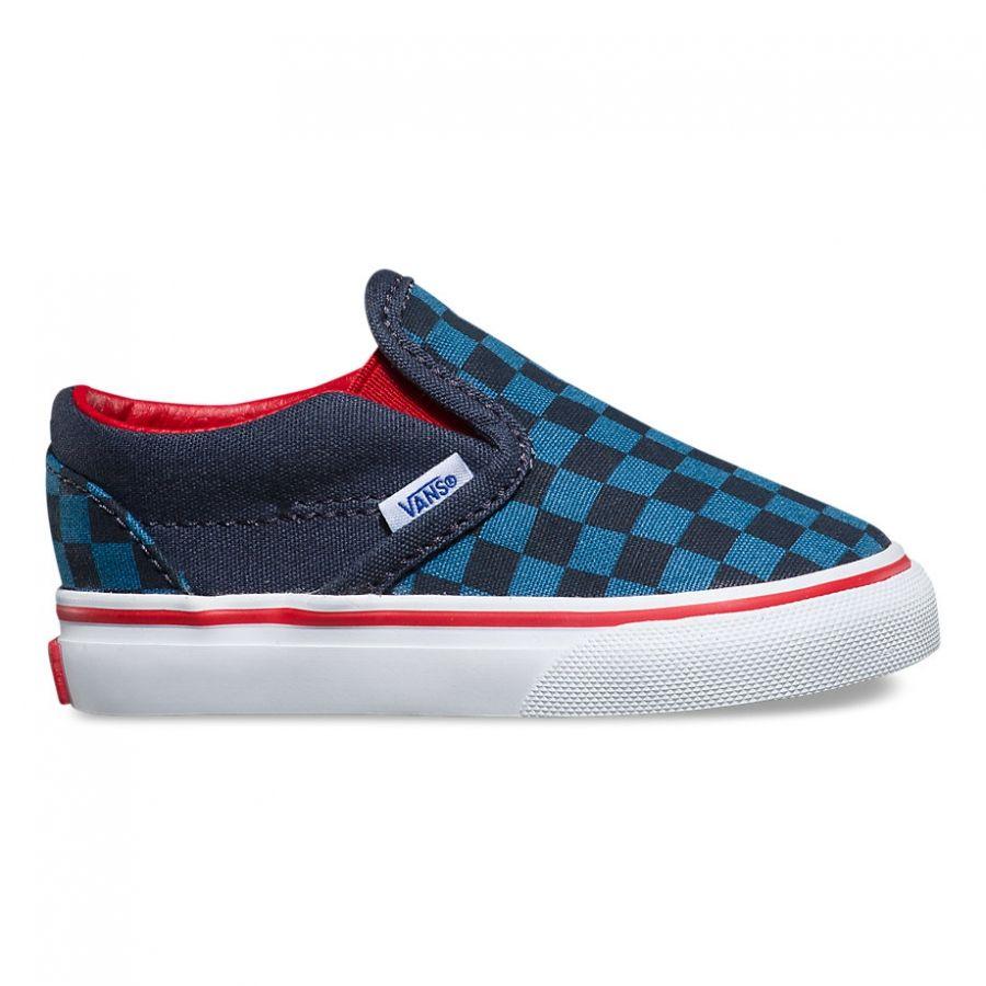 Vans Checkerboard Classic Slip-On Kids shoes (blue navy)) at Black Wagon 6c422ca83
