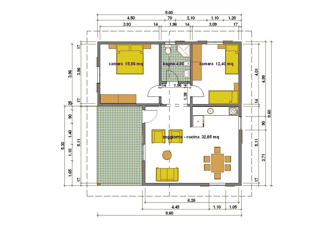 Casa 60 Mq Pianta piantina casa 60 mq (con immagini) | case, piantine