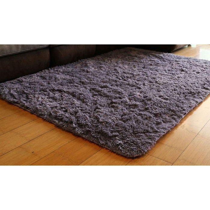 Synthetic area rug made of velvet, 5 X 7 - Purple Grey - 5' x 8'/Surplus (Natural/Criss Cross - 5' x 8'/Surplus), Gray