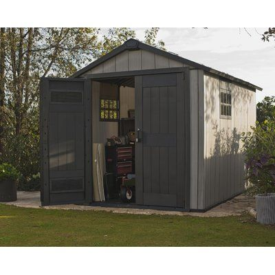 Side Entry 15 Ft W X 8 Ft D Plastic Storage Shed Steel Storage Sheds Large Sheds Outdoor Storage Sheds