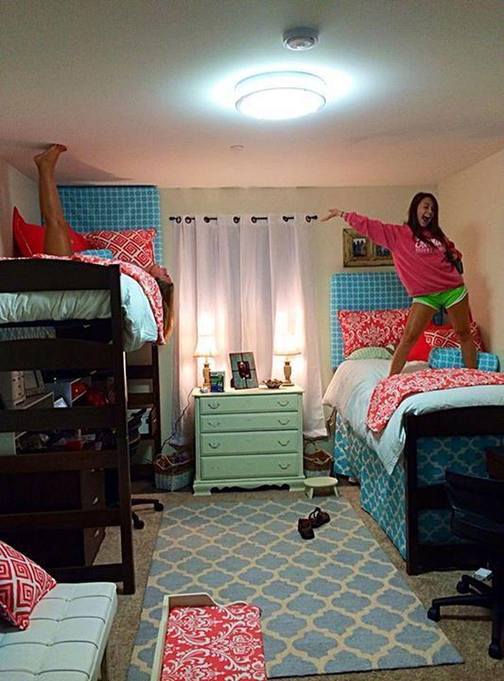 Cute loft bed ideas  Incredible and Cute Dorm Room Decorating Ideas  Dorm room ideas