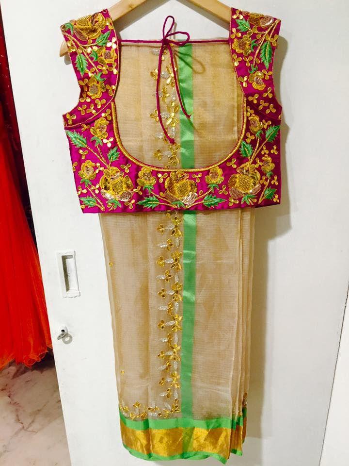 Embroidery Black Saree Gold Tina Pinterest Saree Blouse Saree